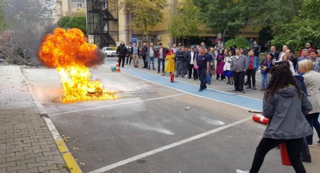 Üniversitemizin Personeline Yangın Güvenliği Eğitimi Verildi